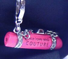 Juicy Peace Love Couture Pink Yoga Mat Charm for Charm Bracelet, Collector's NIB