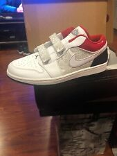 Air Jordan 1 Low 'Varsity Red' And Black Stealth SZ 12 Brand New! 2 Pairs