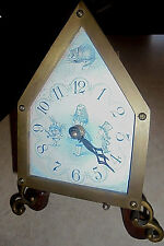 Alice in Wonderland Brass Collectors Clock Timeworks A Curious Item Must See