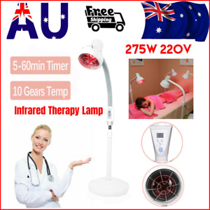 275W Infrared Heat Therapy Lamp Pain Relief Therapeutic Pain Relief Floor Stand