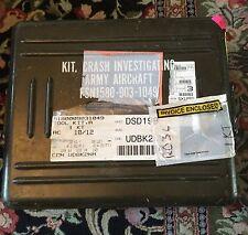 US Army aircraft crash investigation kit heavy metal box missing camera military