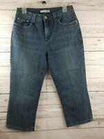 Chico's Platinum Denim Crop Jeans Capri Med Wash 5 Pocket Size 1.5