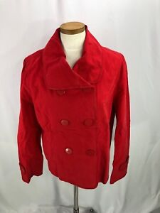 Ann Taylor Loft Red Double Breast Jacket NWT size XL 100% Cotton