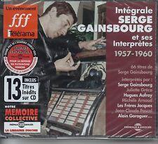 Serge GAINSBOURGEt ses interprètes - Intégrale 1957 - 19603 CDFremeaux2011
