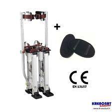 H1523 : échasses 38 à 58 cm aluminium, mat pro neuf - Norme CE