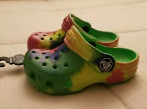 Kids' Baby Girls Classic Tie Dye Graphic Clog Crocs Size 6/C6