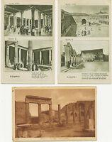 ITALIEN POMPEI 10 versch. ungebr. AK'S m. viele seltene, ca. 1900/20