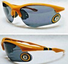 READ LISTING! Oakland Athletics BULLSEYE 3D logo on Sport Gold Blade Sunglasses!