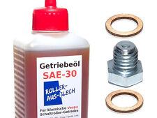 "SAE 30 Getriebeöl SET ""L"" VESPA PK 50 S XL2 PX 80 125 1x Ölschraube +2x Dichtung"