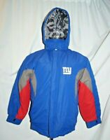 New York Giants Winter Coat Hooded Jacket NFL Team Apparel Youth XL 18-20 Blue