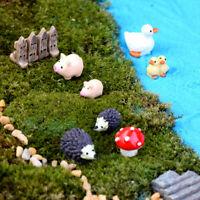 KQ_ 3Pcs Resin Dollhouse Miniature Simulation Cartoon Cute Animal Mini Ornaments