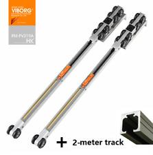 Soft closing Hanging Sliding Door Hardware Wheels Roller Set With 2m track rail