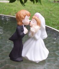 VINTAGE LEFTON BOY GROOM GIRL Children BRIDE WEDDING CAKE TOPPER RARE MINT