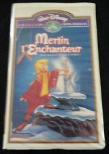 VHS French Movie Merlin L'enchanteur ! Walt DisneyPictures Édition Limitée