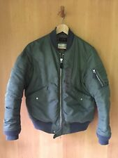 MEN'S Beams Plus Japan L2B Down Flight Jacket Bomber Olive Medium