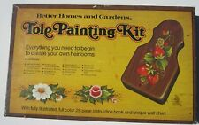 1960s Tole Painting Kit With Board and Paints Better Homes & Gardens Used