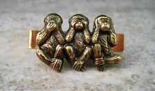 Handmade No Evil Monkey Steampunk Tie Bar