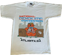 VINTAGE 1988 Screen Stars Single Stitch NATIONAL DEMOKATIC Convention Atlanta S