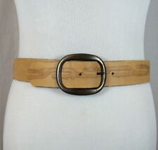 Vintage Cowboy Western Brown Genuine Leather Belt With Removable Buckle Size 30