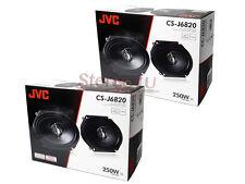 """(2) Pairs JVC CS-J6820 6x8 6"""" x 8""""  500 Watt 4-Ohm 2-Way Car Audio Speakers"""