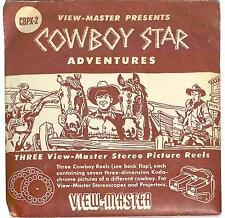 vintage Sawyer's View Master COWBOY STAR adventures Gene AUTRY Roy RODGERS set!