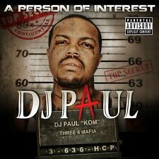A  Person of Interest [PA] by DJ Paul (Rap) (CD, 2012, 2 Discs, Scale-a-Ton)