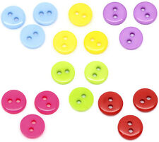 150 SMALL ACRYLIC ROUND BUTTONS~9mm~Sewing~embellishments~jewellery~dolls  (91E)