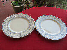 "MINTON PENROSE ROYAL DOULTON 1976 BONE CHINA 2 DINNER PLATES 10 1/2"" ENGLAND"