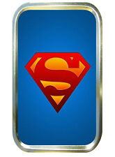 Blue Superman 1oz Gold Tobacco Tin,Pill Tin,Cigarette,Small Pocket Tin,SuperHero