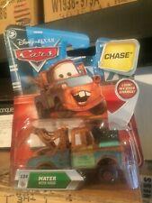 Disney Pixar Cars Mater with Hood Moving Eyes Chase Mattel 1.55 Scale BNIB