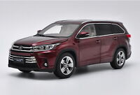 1/18 Scale Toyota Highlander 2018 Red Diecast Car Model Toy Collection Gift