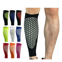 1Pcs Sports Running Bicycle Compression Socks Leg Calf Support Sleeve Brace Char