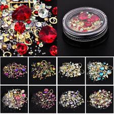 Nail Art Rhinestones 3D Mix Glitters Coloful Acrylic Nails Tips Stickers Decor