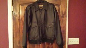 Leather bomber jacket Hand painted Indian Motorcyle logo size large