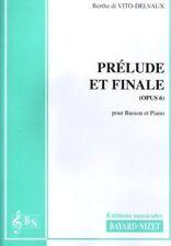 Prélude et finale opus 6 pour basson et piano