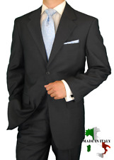 Clearance DTI Executive $1598 Mens Suit 2 Button Wool / Silk 130-2 Charcoal 36R