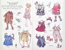 Vintage Pat Stall Cassie & her Frocks from 1922 Catalog Paper Doll, Uncut,1982