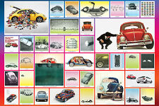 Classic VOLKSWAGEN BEETLE BUG Historic Iconography Cool Car Wall POSTER