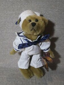 Brass Button Bears, 20th Century Collectibles, Casey 1940's - w/Tag (No Stand)