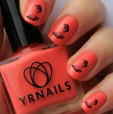 Nail WRAPS Nail Art Water Transfers Decals - Pin Up Girl Pillow - S131