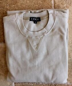 NWT New Mens Crewneck Stone L-XL Sweatshirts $60 value Fine Quality