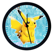 Pokemon Pikachu Black Frame Wall Clock Nice For Decor or Gifts W43