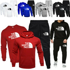 3PC Mens Full Tracksuit Set Hoodie Sweatshirts Top Bottoms Sweat Suit Sports Gym