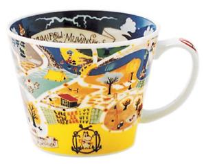 Moomin Valley Map Design Soup Mug Cup Yamaka Japan