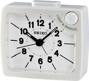 [100% Seiko] QHE120 Bedside Alarm Clock 4 colors snooze,beep,light+FREE SHIP~NEW