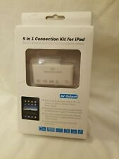5-in-1 Connection Kit for iPad (Photo Importer) AV Output NEW