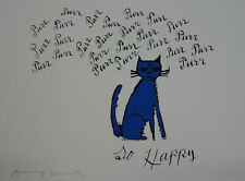 Fine Pop Art Limited edition silkscreen serigraph - Cat, stamped & signed Warhol