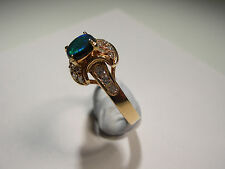 Lightening Ridge Opal with 20 small Diamonds on 18ct Gold Ring (Lot 2235)