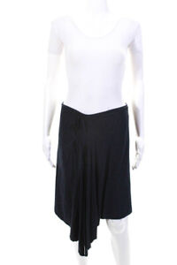 Max Studio Womens Asymmetrical Skirt Navy Blue Size Extra Small