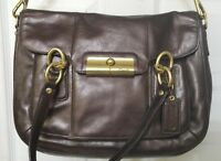 Coach Brown / Dark Bronze Leather Bag no tags Purse New with imperfections